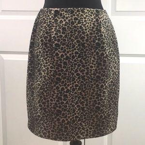 Apostrophe Velvet Leopard Pencil Skirt